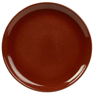 Rustic Coupe Plate Red 24cm