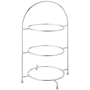 Utopia Chrome 3 Tier Cake Plate Stand 17inch / 43cm
