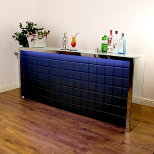 Hollywood Home Bar Large Black with LED Colour Lighting