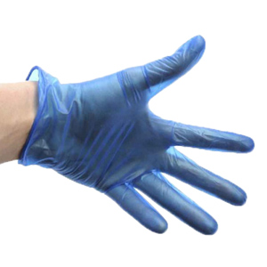 Disposable Blue Vinyl Catering Gloves Large