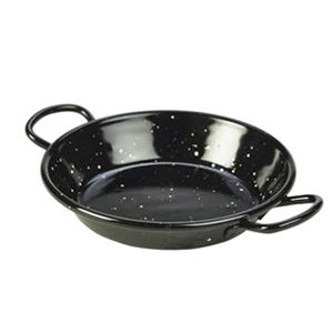 La Valenciana Black Enamel Miniature Paella Pan 12cm