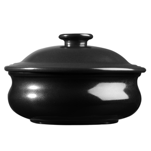 Art De Cuisine Rustics Simmer Lidded Stewpot Black 15oz / 430ml