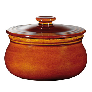 Art De Cuisine Rustic Centre Stage Lidded Pot Brown 3.4 Inches / 8.6cm