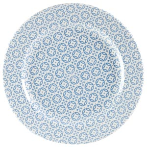 Churchill Moresque Profile Plate Blue 10.85inch / 27.6cm