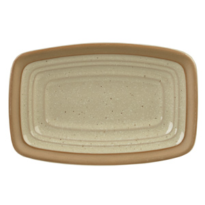 "Art De Cuisine Igneous Rectangle Plate 6"" / 15cm"