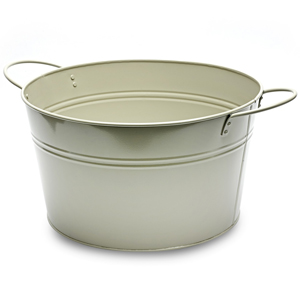 Round Steel Party Tub Grey 36cm