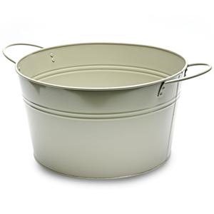 Round Steel Party Tub Grey 36cm