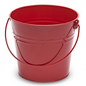 Steel Serving Bucket Red 15.5cm