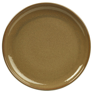 Rustic Coupe Plate Brown 19cm