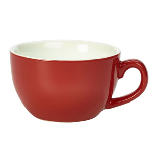 Royal Genware Bowl Shaped Cup Red 8.8oz / 250ml