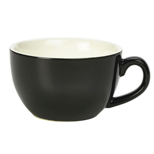Royal Genware Bowl Shaped Cup Black 8.8oz / 250ml