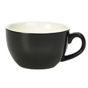 Royal Genware Bowl Shaped Cup Black 12oz / 340ml