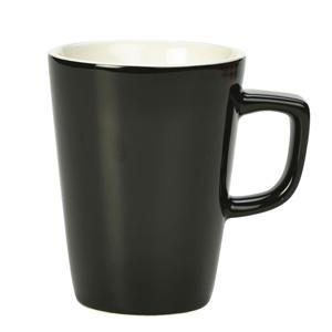 Royal Genware Latte Mug Black 12oz / 340ml