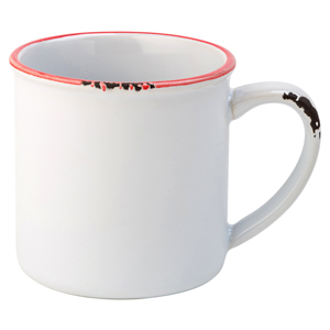 Avebury White & Red Mug 10oz / 280ml