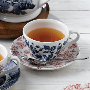 Churchill Vintage Prints Blue Bramble Georgian Tea Cup 7oz / 200ml
