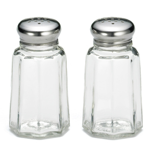 Paneled Salt and Pepper Shakers