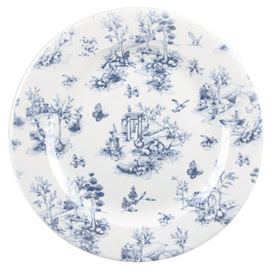 Churchill Vintage Prints Prague Toile Plate 10.8 Inch / 27.6cm