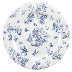 Churchill Vintage Prints Prague Toile Plate 12 Inch / 30.5cm