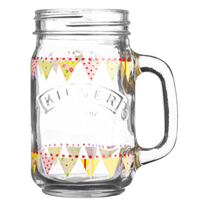 Kilner Handled Drinking Jar Bunting 14oz / 400ml