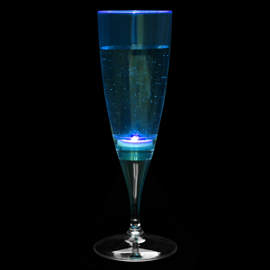 Liquid Activated Flashing Champagne Flutes 6.3oz / 180ml