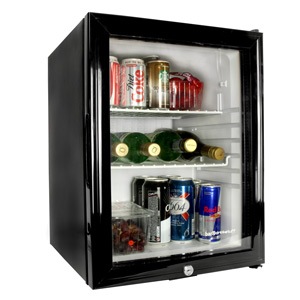 Frostbite Glass Door Mini Bar 35ltr Black