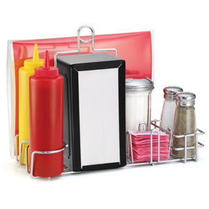 Diner Condiment Rack Set Black