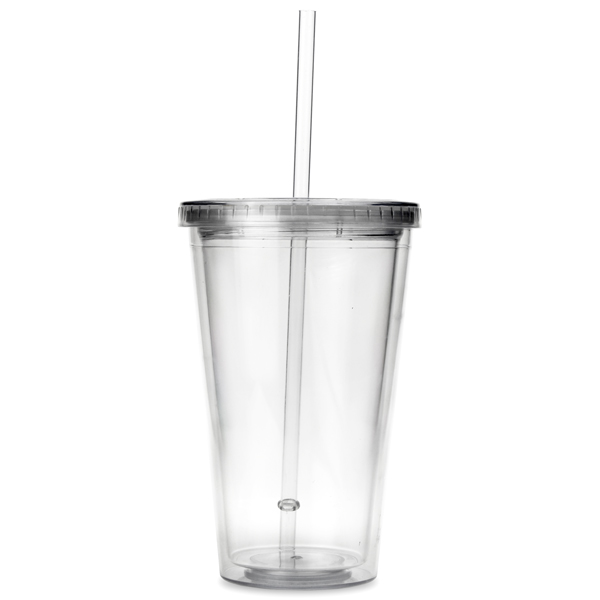 Insulated Plastic Tumbler With Lid And Straw At Drinkstuff