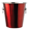 stainless steel wine coolers: Metallic Red Champagne Bucket