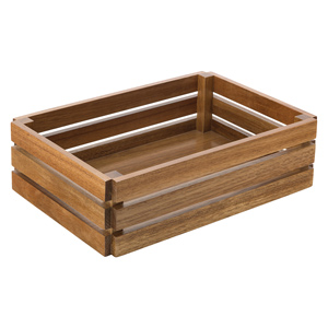 "Acacia Food Presentation Crate 12.5"" x 8.25"""