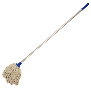 Image of Colour Coded Blue Mop Head and Handle