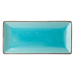 Utopia Soho Rectangular Plate Aqua 30 x 14cm