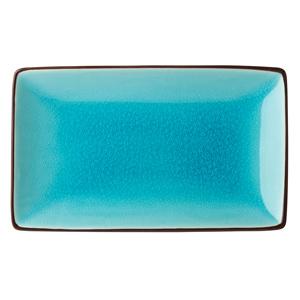 Utopia Soho Rectangular Plate Aqua 21 x 14cm