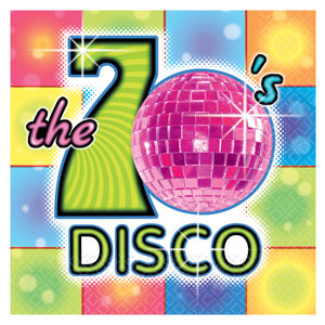 7039s Disco Party Accessories Napkins