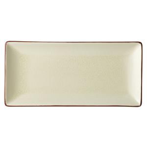 Utopia Soho Rectangular Plate Stone 30 x 14cm