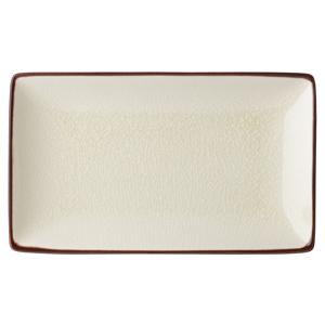 Utopia Soho Rectangular Plate Stone 21 x 14cm