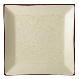 Utopia Soho Square Plate Stone 10inch / 25cm