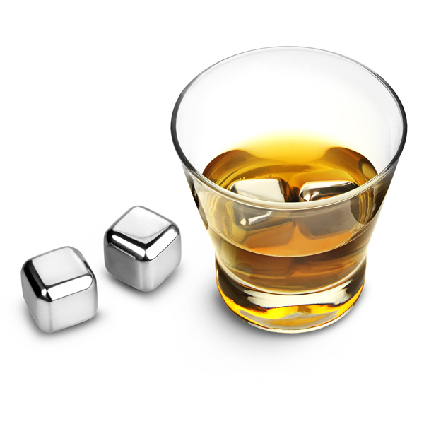 stainless steel ice cubes at drinkstuff