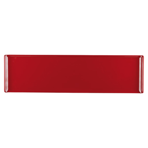 Churchill Alchemy Melamine Rectangle Buffet Tray Red 22inch / 56cm