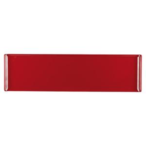Churchill Alchemy Melamine Rectangle Buffet Tray Red 22inch / 56cm