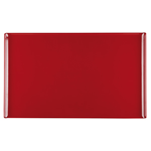 Churchill Alchemy Melamine Rectangle Buffet Tray Red 20.8inch / 53cm