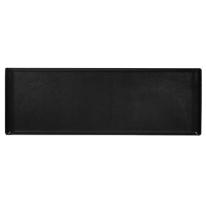 Churchill Alchemy Melamine Rectangle Buffet Tray Black 22.8inch / 58cm