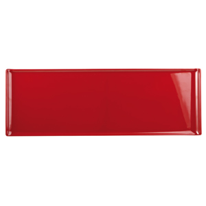 Churchill Alchemy Melamine Rectangle Buffet Tray Red 22.8inch / 58cm