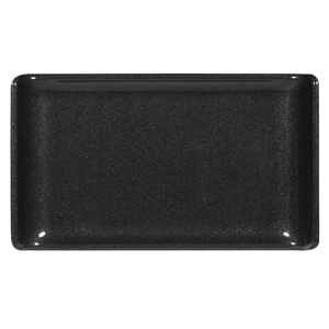 Churchill Alchemy Melamine Rectangle Buffet Tray Black 6.7inch / 17.2cm