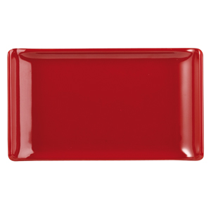 Churchill Alchemy Melamine Rectangle Buffet Tray Red 6.7inch / 17.2cm
