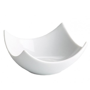 Moonlight Scalloped Edge Square Serving Bowl 11.5cm