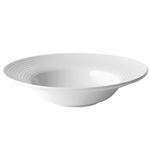 "Utopia Anton Black Edge Deep Winged Pasta Plate 12"" / 30cm"