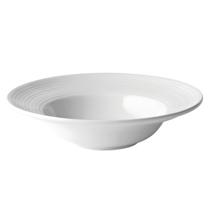 "Utopia Anton Black Edge Deep Winged Pasta Plate 10""/ 25cm"