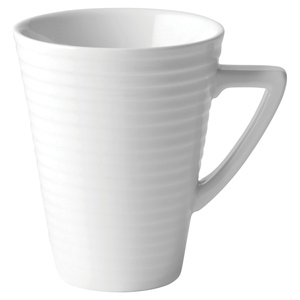 Utopia Anton Black Edge Deco Mug 12oz / 340ml