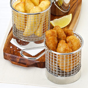 Stainless Steel Mini Presentation Chip Basket 7.5cm