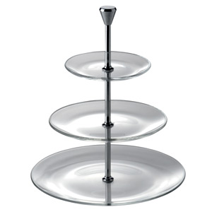 Utopia Full Moon 3 Tier Glass Plate Cake Stand